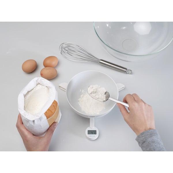 Bílá skládací digitální kuchyňská váha Joseph Joseph TriScale