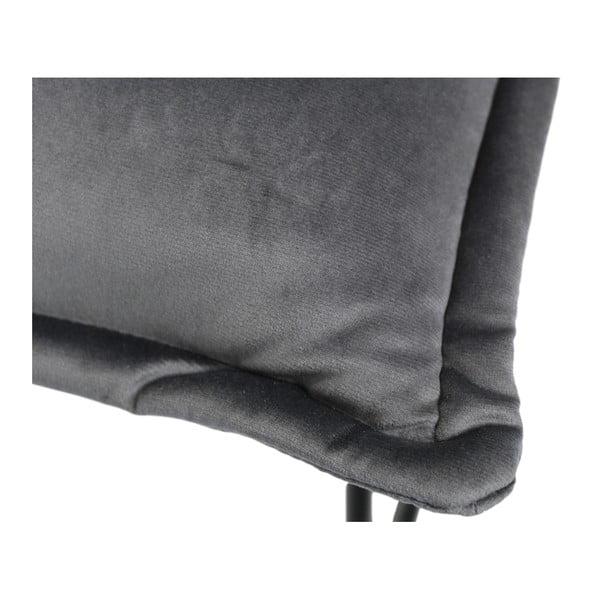 Šedá židle se sametovým potahem HSM collection Estelle