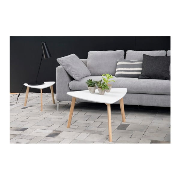 Bílý odkládací stolek Actona Vitis, výška 36 cm