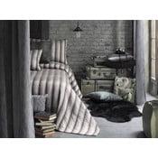Sada přehozu přes postel a povlaků na polštář Apolena Luxury, šedá