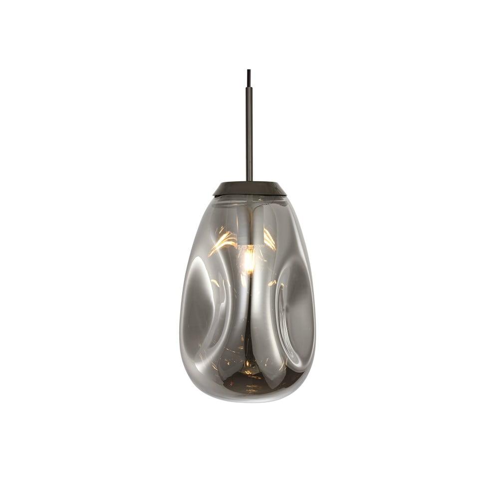 Závěsné svítidlo z foukaného skla v šedé barvě Leitmotiv Pendulum, výška 33cm