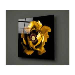 Černo-žlutý skleněný obraz Insigne Rustenna, 40x40cm