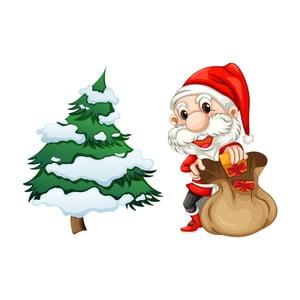 Vánoční samolepka Ambiance Santa Claus and Tree