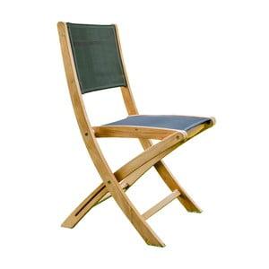 Sada 2 skládacích zahradních židlí z teakového dřeva Ezeis Navy