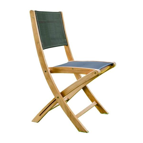 Zestaw 2 ogrodowych krzeseł składanych z drewna tekowego Ezeis Navy