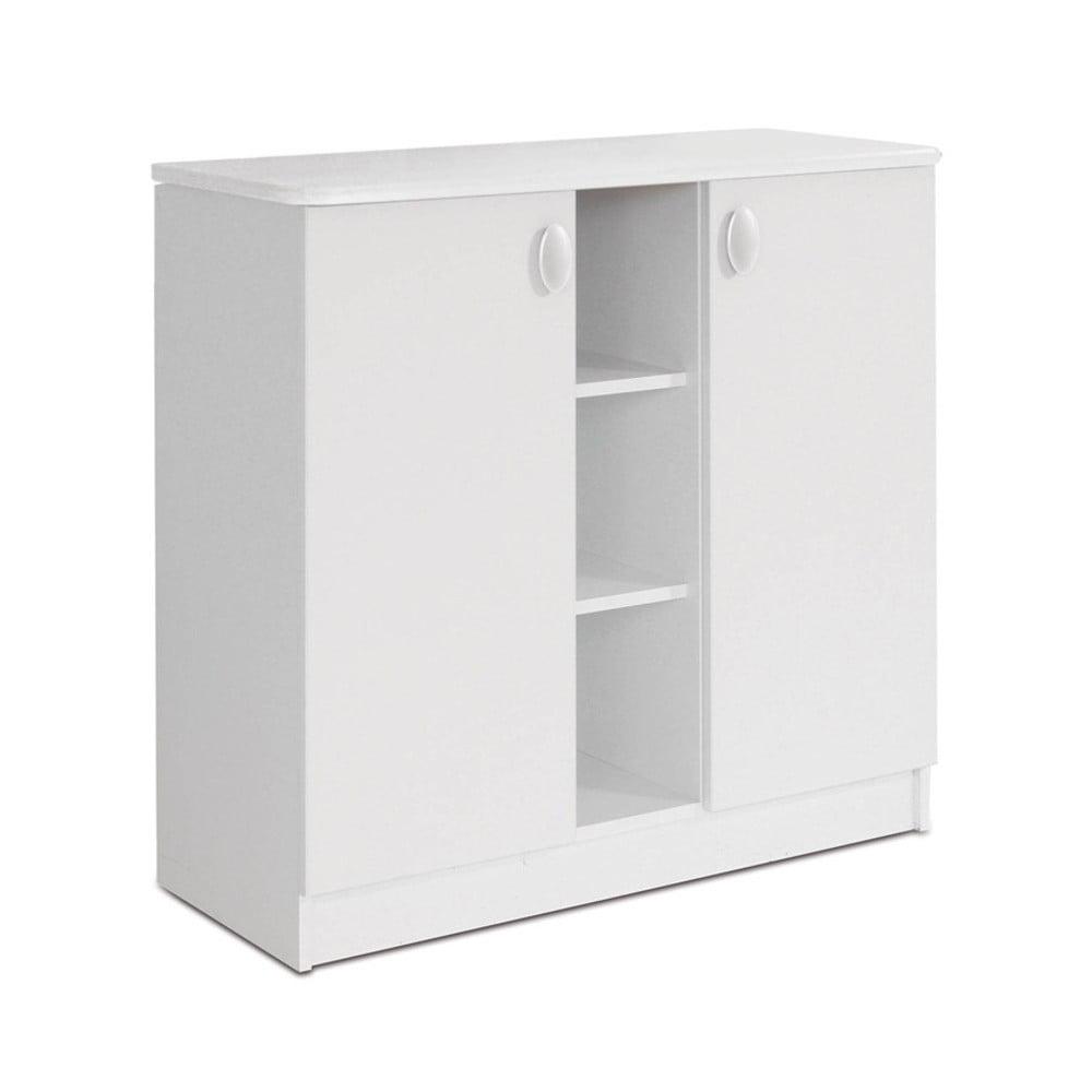 Bílá dvoudveřová komoda Faktum Mokus