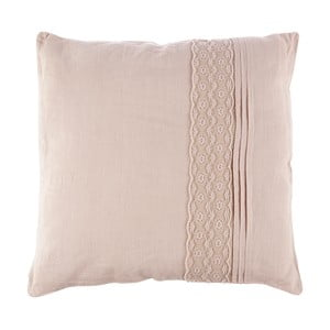 Polštář Dente Pale Pink, 40x40 cm