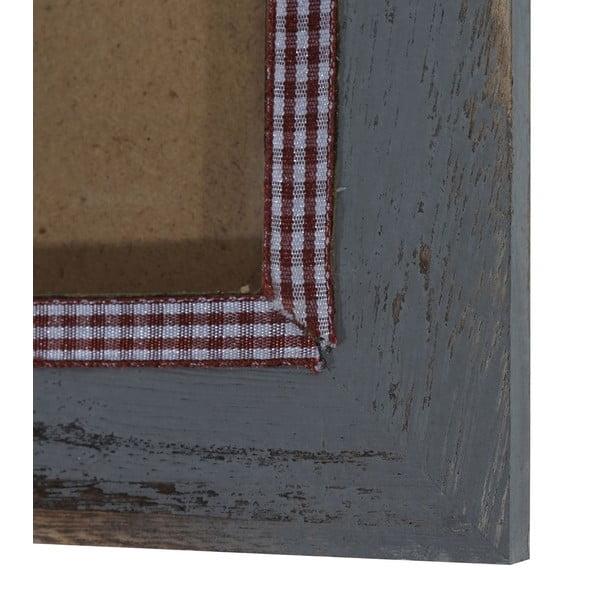 Šedý dřevěný rám na fotografie Mendler Shabby, 19x24cm