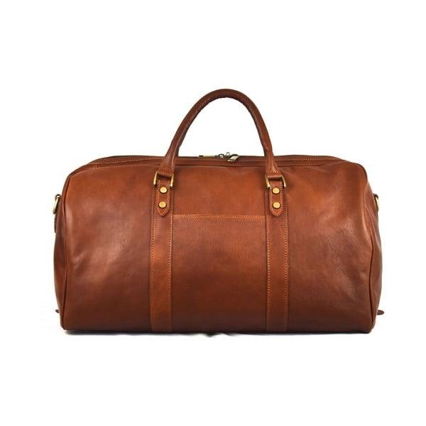 Kožená taška Santo Croce 82979 Brown