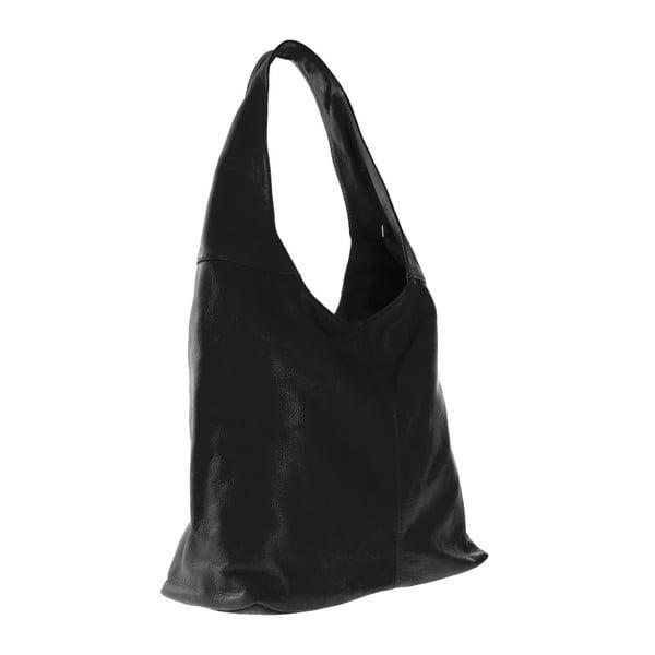 Černá kožená kabelka Michela