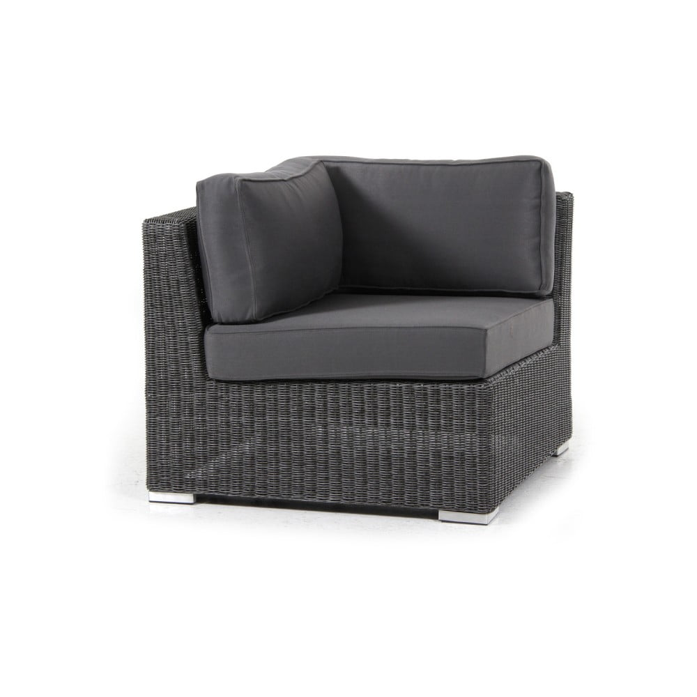 Rohový díl tmavě šedé sedačky Brafab Brookline