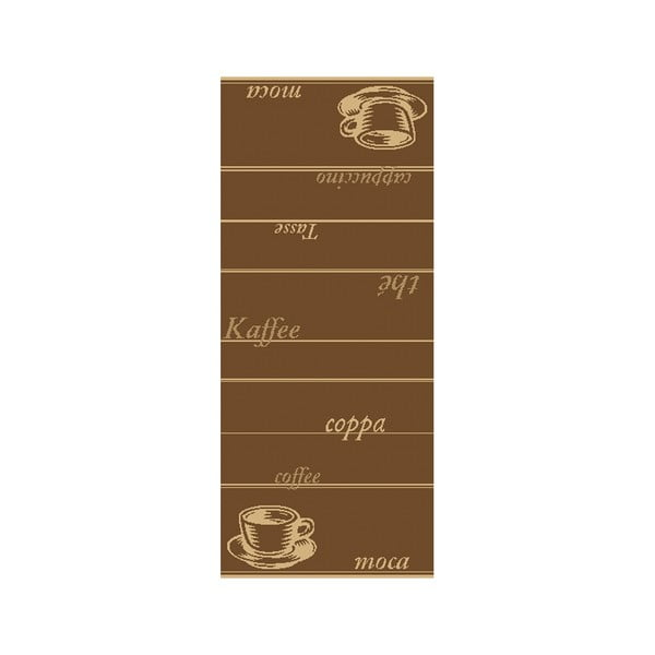Koberec Vůně kávy 80x200 cm, tmavý