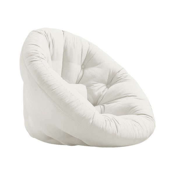 Rozkładany fotel z jasnobeżowym obiciem Karup Design Nido Natural