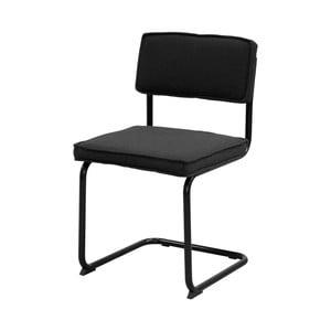 Tmavě šedá židle s černým podnožím Aemely