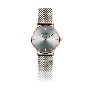 Unisex hodinky s páskem ve stříbrné barvě z nerezové oceli Frederic Graff Pulio