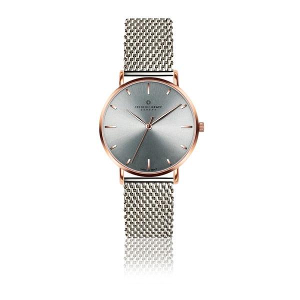 Unisex hodinky s remienkom v striebornej farbe z antikoro ocele Frederic Graff Pulio