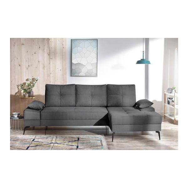 SVEN III sötétszürke kinyitható kanapé, jobb oldali kivitel - Bobochic Paris