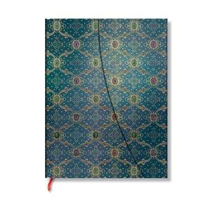 Diář na rok 2014 - French Ornate Bleu 21x13 cm, vertikální výpis dnů