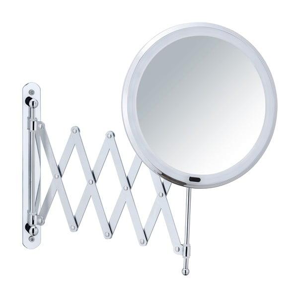 Oglindă cosmetică de perete cu suport telescopic și LED Wenko Barona