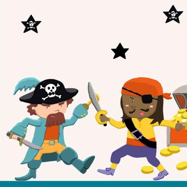Samolepky na zeď Piráti