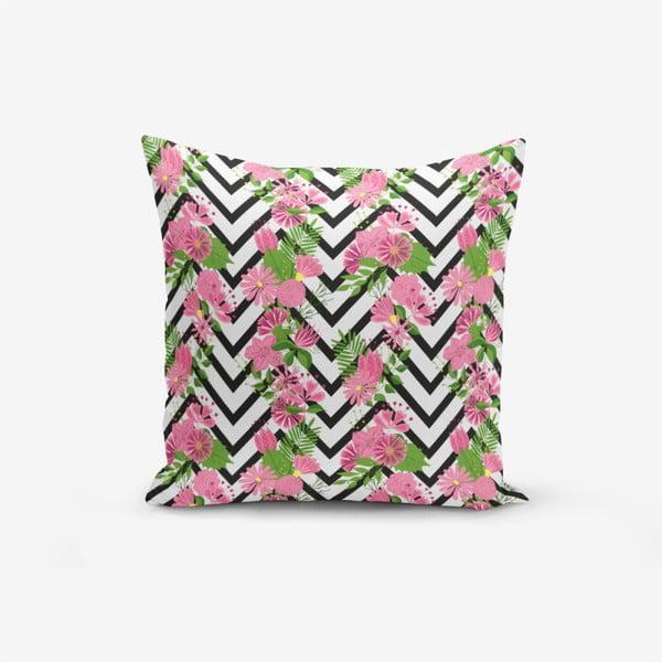 Față de pernă cu amestec din bumbac Minimalist Cushion Covers Zigzag Zebra Ogea Malea, 45 x 45 cm