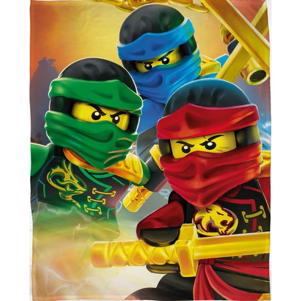Dětská bavlněná deka Halantex Lego Ninjago, 100 x 150 cm