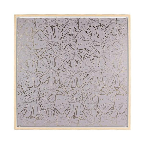 Tablou de perete Santiago Pons Gray Leaves, 104x104cm