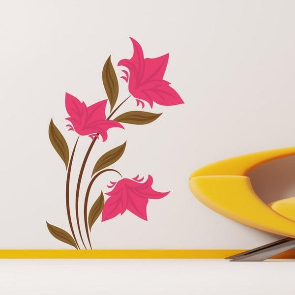 Pink Flower dekoratív falmatrica