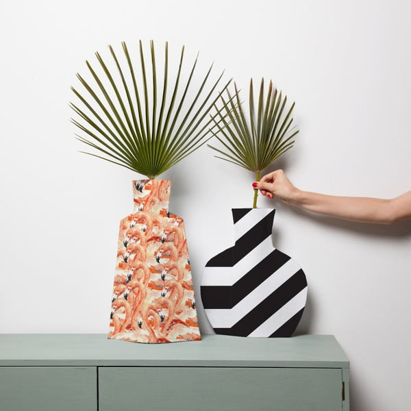 Sada 2 textilních váz na květiny Really Nice Things Flamingos
