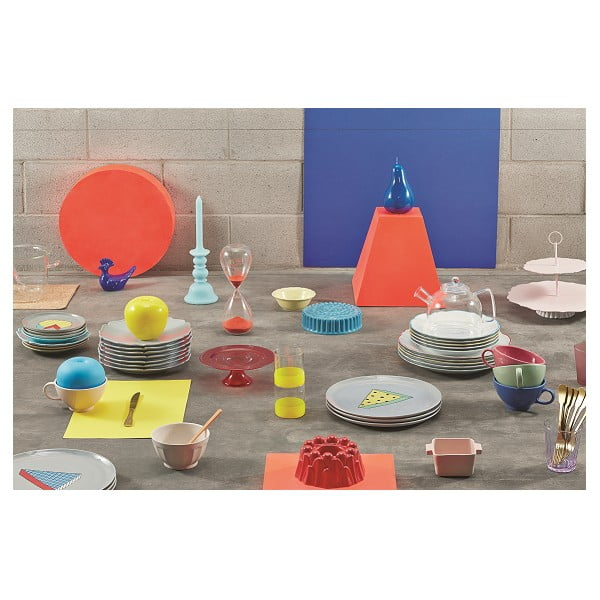 Sada 6 jídelních talířů Parisienne Azzurro