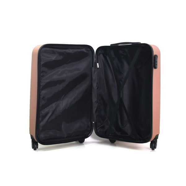 Cestovní kufr ve růžovozlaté barvě na kolečkách Hero Ioulia, 37 l