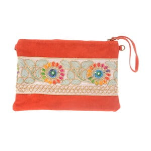 Béžovočervená kožená kabelka Tina Panicucci Nero