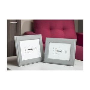 Světle šedý rámeček na fotografii Styler Malmo, 40x50cm