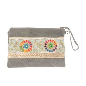 Béžovošedá kožená kabelka Tina Panicucci Nero