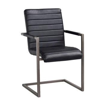 Scaun cu baza metalică, neagră Rowico Clive, negru