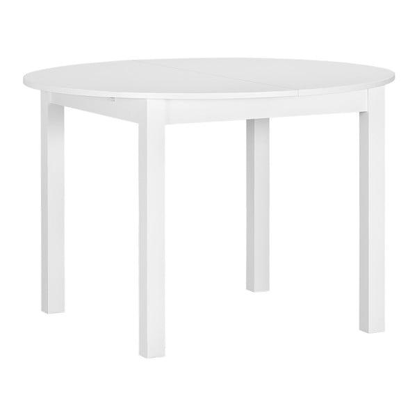 Biely okrúhly drevený rozkladací jedálenský stôl Artemob Haily