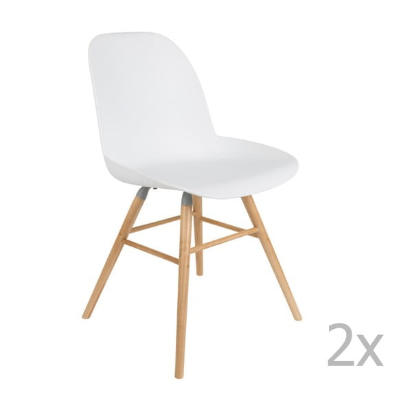 Albert Kuip 2 db-os fehér székkészlet - Zuiver