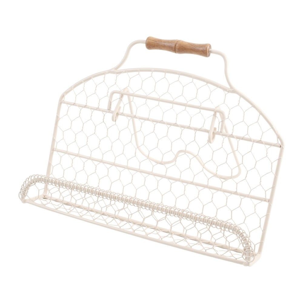 Bílý kovový stojan na kuchařku T&G Woodware Provence