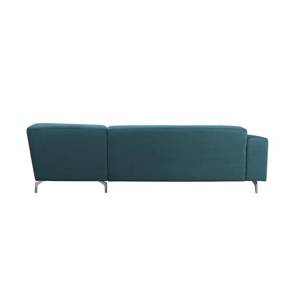 Tyrkysová rohová pohovka Windsor & Co Sofas Orion, levý roh