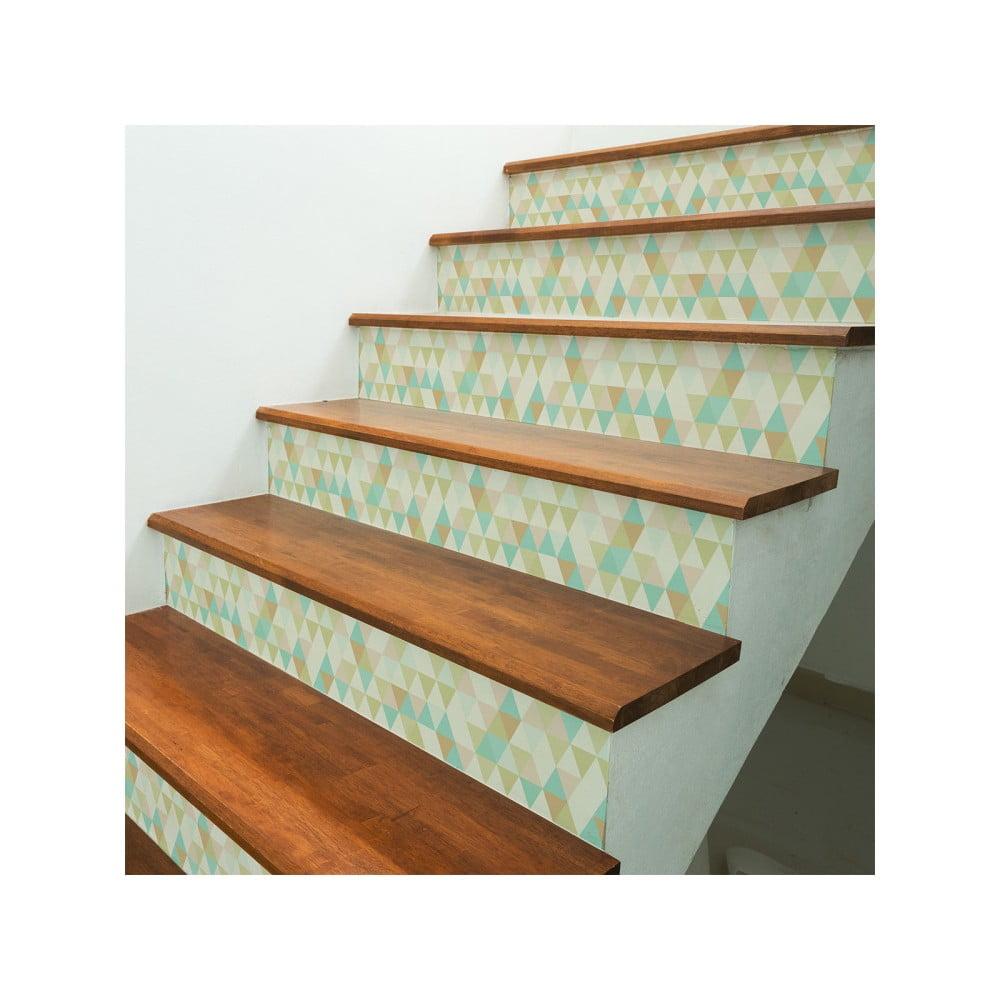Sada 2 samolepek na schody Ambiance Stairs Stickers Frederikke, 15 x 105 cm