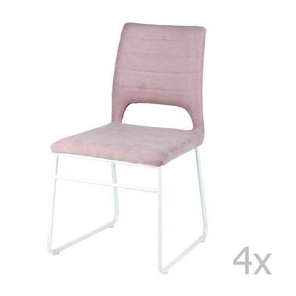 Sada 4 ružových jedálenských stoličiek sømcasa Nessa
