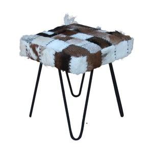Stolička s potahem z kozí kůže HSM Collection Patchwork