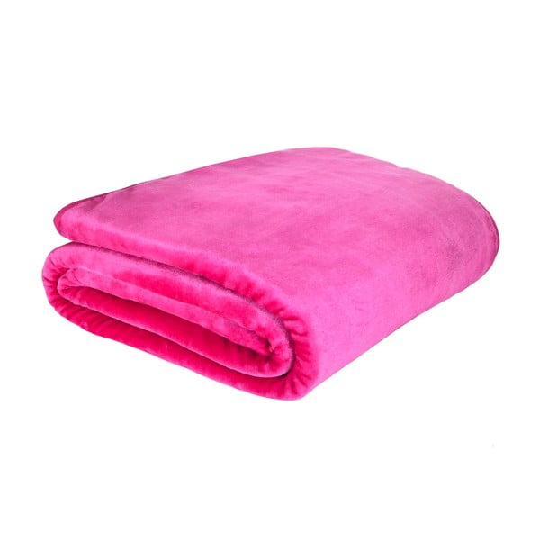 Deka Plain Raschel Pink, 150x200 cm