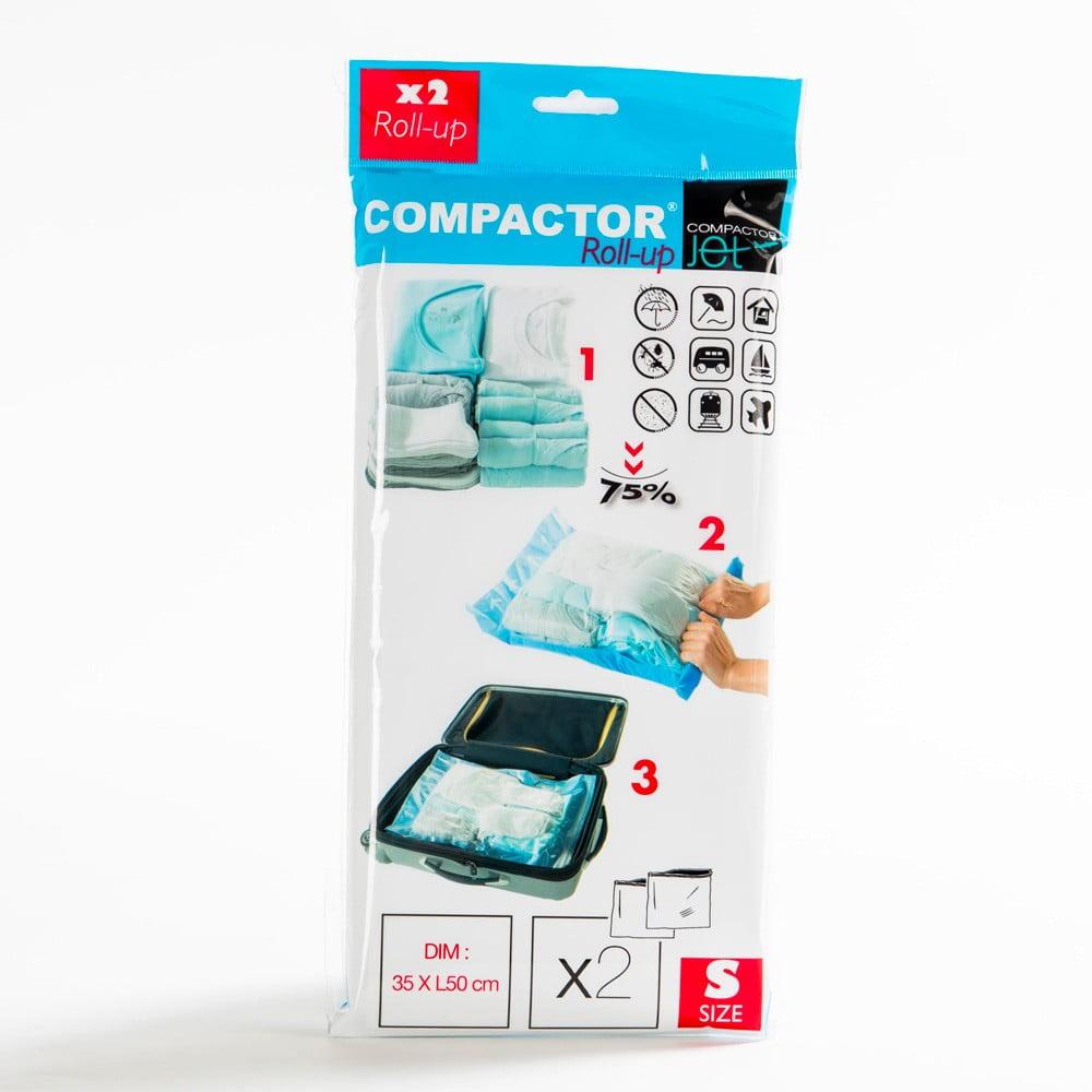 Sada 2 modrých vakuových obalů na oblečení Compactor, 50x35cm