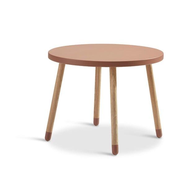 Růžový dětský stolek Flexa Play, ø 60 cm