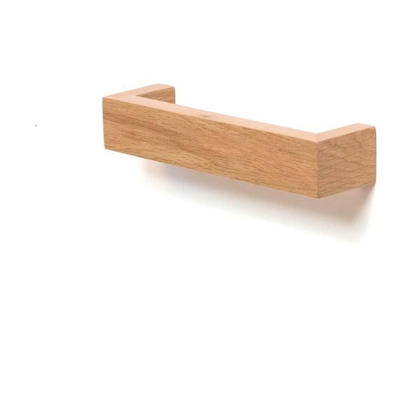 Dřevěný nástěnný držák na osušky Wireworks Mezza, délka 28cm