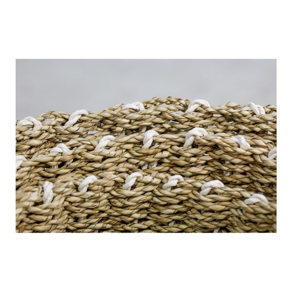 Sada 3 úložných košíků HSM collection Raffia Natural White Duro