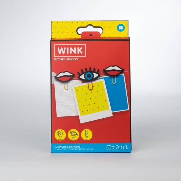 Sada 6 svorek na papír Just Mustard Wink