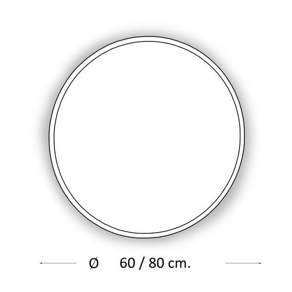 Zrcadlo s LED osvětlením Metro, Ø60 cm