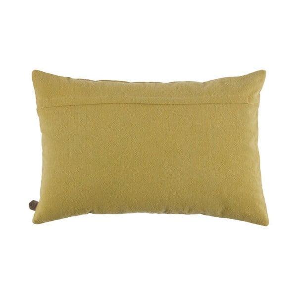 Žlutý bavlněný polštář De Eekhoorn Guides, 40x60cm